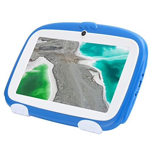 Tableta para niños (azul), tabletas Android de 1 GB + 16 GB con pantalla HD de 3000 mAh, tableta para niños pequeños de 7 pulgadas con protección ocular para aprendizaje educativo(UE (100-240 V))