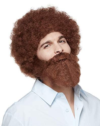 幽灵万圣节鲍勃·罗斯假发和胡子 官方授权布朗