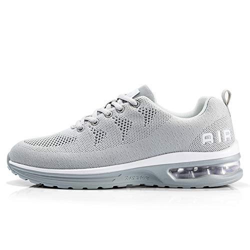 TORISKY Sportschuhe Herren Damen GolfschuheTurnschuhe Laufschuhe mit Luftpolster Sneaker Air Schuhe Leichte(A35-Grey43)