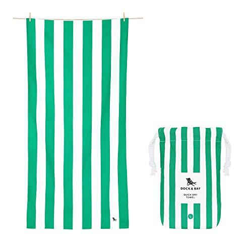 Dock & Bay Molto Grande Verde Tappetino da Spiaggia Senza Sabbia, ad Asciugatura Rapida - Asciugamano da Spiaggia ad Asciugatura Rapida- Molto Grande - 200x90cm