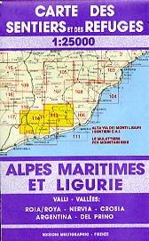Ligurien Wanderkarte, Karte, Landkarte, Alpi Marittime e Liguri Blatt 113/114, Ligurien, 1:25.000, Edition Multigraphic