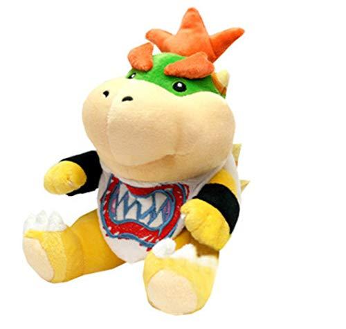 Hanyyj Peluches Super Mario Bros Peluches Bowser Jr Koopa Bowser Dragón Peluches Hermanos Felpa Suave 18Cm