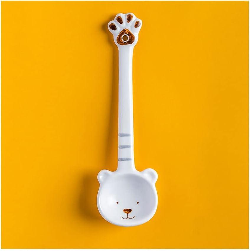 Dessert spoon Sacramento Mall Cute Bear Spoon Mix Ceramic Creative unisex