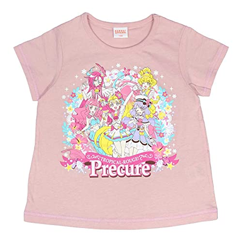 アスナロ [プリキュア] Tシャツ 半袖 ハートクルリング付き 子供 120 ピンク