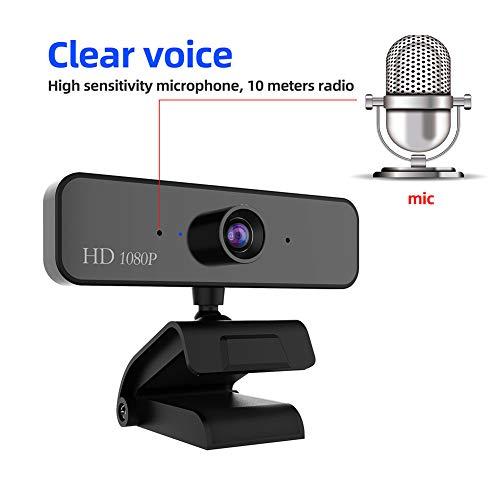 Webcam 1080P Full HD mit Stereo Mikrofon PC Kamera,Vitade 925A HDR Facecam USB Camera f/ür Video Chat Live Streaming Kompatibel mit Mac PC Windows Skype Twitch YouTube Xsplit Xbox One Include Stativ
