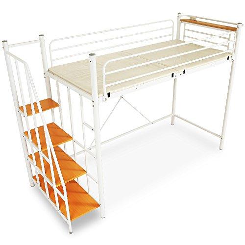 LOWYA『ロフトベッドコンセント付宮棚上り下りラクラク階段付き』