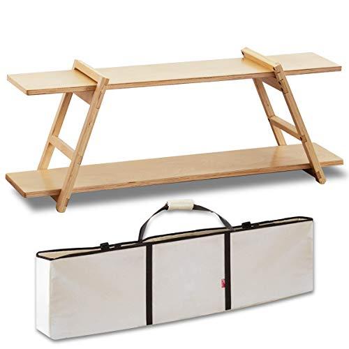 FIELDOOR ワンバイラック 木製ラック キャンプ アウトドア アレンジ 簡単組立