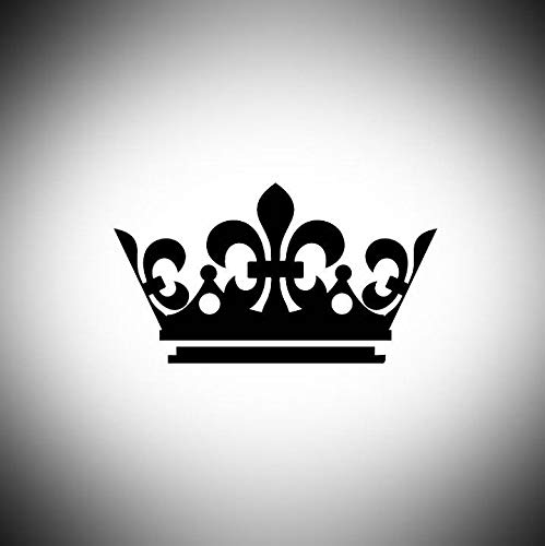 Lplpol Crown Decal | King | Queen Laptop Vinyl Decal Window Wall Sticker Car Decal 6 inches