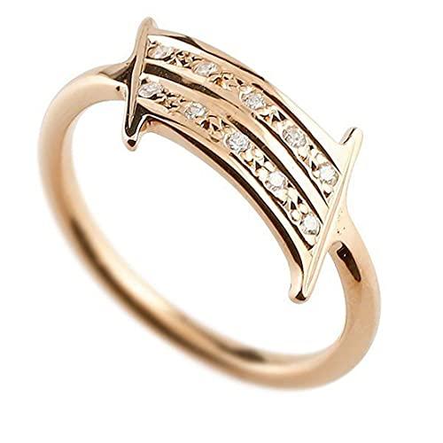 [アトラス]Atrus リング メンズ 10金 ピンクゴールドk10 キュービックジルコニア ナンバー1 指輪 数字 ストレート 29号