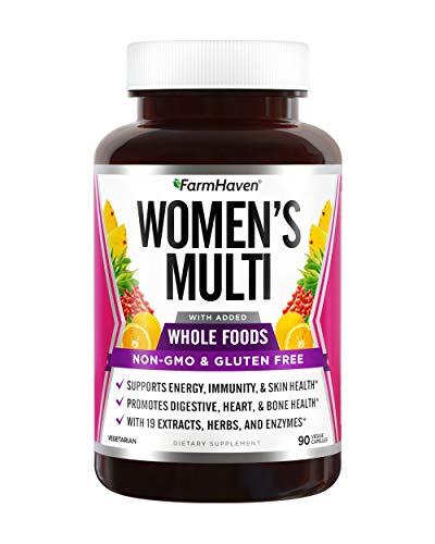 FarmHaven Multivitamin for Women   22 Essential Nutrients, Fruits & Veggies Womens Multivitamin   Whole Food Multivitamin Boosts Energy, Immune, Heart Health   Womens Daily Vitamins - 90 Capsules