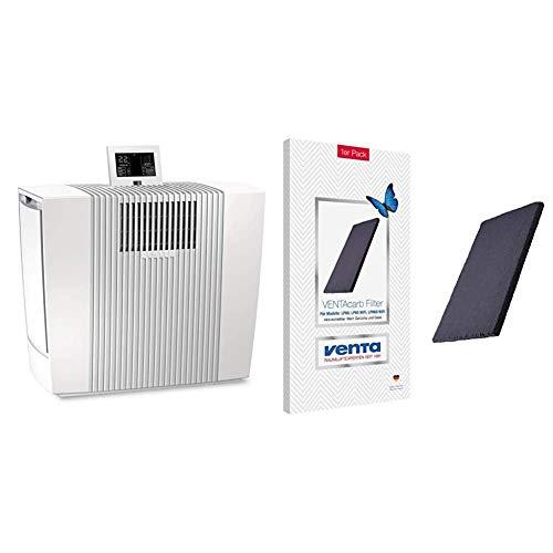 Venta Luftreiniger LP60 Ultra für Allergiker mit Feinstaubsensor und Partikelanzeige (bis zu 75 qm), Weiß & arb Einsatz 1er für Premium VENTAcel H13 Filter, Ersatzfilter für LP60 WiFi + LPH60 WiFi