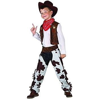 Disfraz de vaquero de lujo para niño 4 à 6 ans: Amazon.es ...