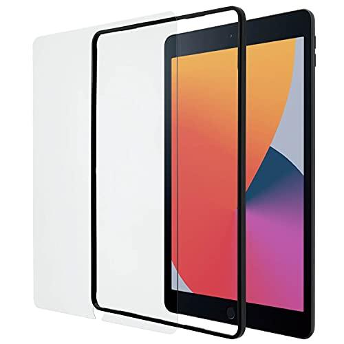エレコム 液晶保護 ガラスフィルム ガイドフレーム付 iPad 10.2インチ (2021年 第9世代 2020年 第8世代 2019年 第7世代) iPad Air (2019年 第3世代) iPad Pro 10.5インチ (2017年)用 TBWA19RFLGGJ