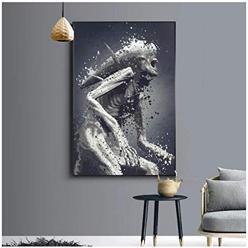 Wxueh Neomorph Version Splatter Movie Wall Art Canvas Poster Imagen Pintura Sobre Pintura Decoración Del Hogar -50X70Cmx1Pcs-Sin Marco