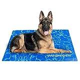 WINSHIDEN kühlmatte für Hunde, 80X120CM Haustier-kühlmatte, Hund Innoxious Gel Self Kühldecke, Komfortabel Wasserdicht kühlende Kälte Hundematte 3XL