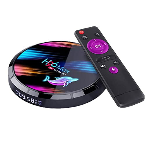 Tuimiyisou Compatible con Smart TV Caja H96 MaxX3 de Cuatro núcleos Reproductor Multimedia 8K Wi-Fi de Alta definición, Android 4G + 32G