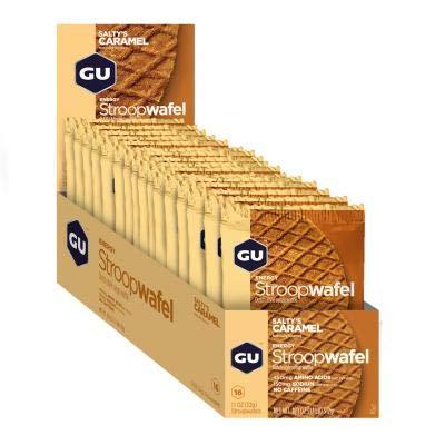 GU - 769493101617/432 : Galleta gofre energetico Caramelo SALTY'S GU Waffle 16U