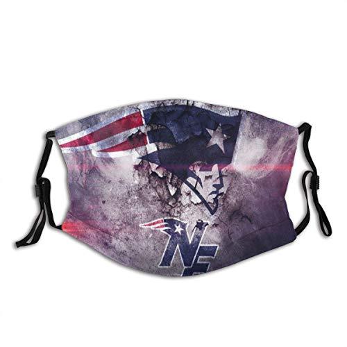 Mundschutz New-England-Patriots Logo 3D-Druck 7 Unisex waschbare und Wiederverwendbare warme Baumwollgesichtsdekorationen für den Außenbereich