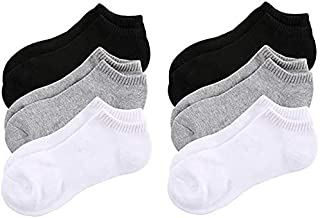 No Show Socks for Men Non Slip Cotton Low Cut Invisible Casual Ankle Socks 6 Pairs