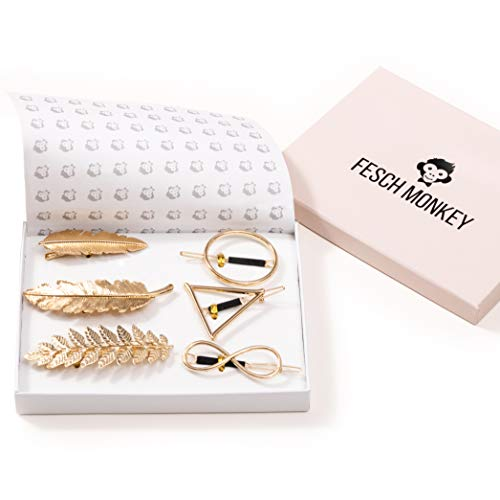 Fesch Monkey® - Rutschfeste Haarspangen Damen - bezaubernder Haarschmuck - beliebte Haarklammern Damen - Haarstyling der besonderen Art