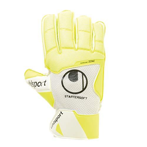 uhlsport Herren Pure Alliance Torwart-Handschuhe Torwarthandschuhe, weiß/Fluo gelb/Schwarz, 10
