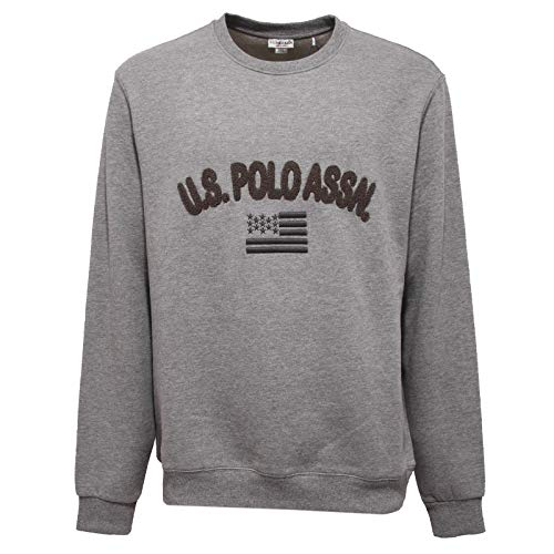 U.S. POLO ASSN. 8720AA Felpa Uomo Grey Cotton Sweatshirt Man [2XL]