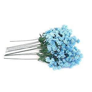 12 Sprays Baby Breath Gypsophila Filler Artificial Silk Flowers 15″ Stem 331 Blue