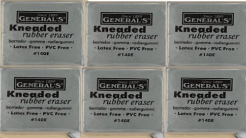 General Pencil Kneaded Eraser Jumbo 1 Pack Latex and Lanolin Free 140EBP (6-Pack)