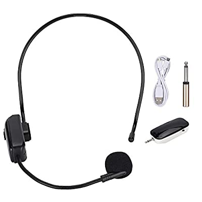 Mavis Laven Bluetooth Wireless Microphone Headset, UHF Wireless Microphone Headset Wireless Microphone with Receiver Mic for Teaching/Meeting/Speech/Tour Guide