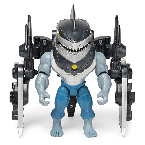 BATMAN 4-Inch King Shark Mega Gear Deluxe Action Figure with Transforming Armor