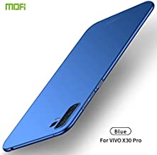 For Vivo X30 Pro Frosted PC Ultra-thin Hard Case Waterproof (Color : Blue)