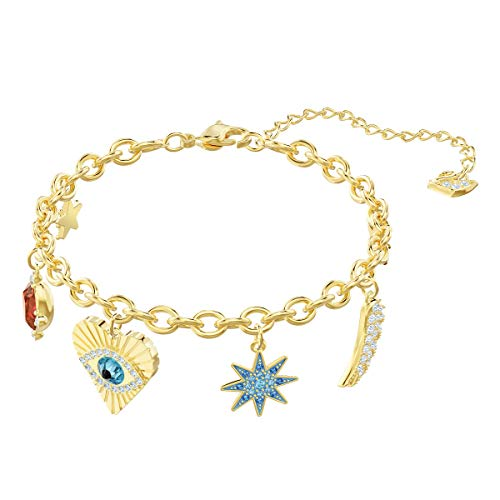 Swarovski Braccialetto Lucky Goddess Charms, Multicolore, placcatura Oro