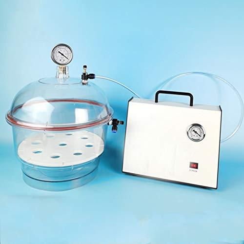 NMVB Desecador de vacío con Bomba de vacío, válvula Doble de 200 mm / 250 mm con manómetro, Frasco de plástico policarbonato secador de vacío laber de Laboratorio de Almacenamiento (Size : 250