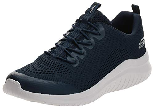 Skechers Ultra Flex 2.0 Kelmer, Zapatillas Hombre, Azul (Navy Engineered Mesh/Synthetic/Trim Nvy), 45 EU