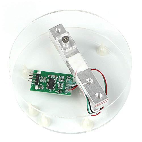 ZHITING Digital lastcell viktsensor HX711 AD omvandlare brytningsmodul 5 kg bärbar elektronisk köksvåg för Arduino-våg
