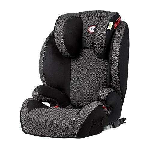 HEYNER® Kindersitz 2in1 mit abnehmbarer Rückenlehne 15-36 kg Isofix Autokindersitz Sitzerhöhung (schwarz)