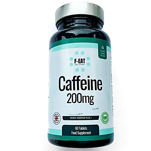 2 Month Supply Caffeine 200mg Tablets - PreWorkout Energy and Memory Boost - Increased Alertness & Attention