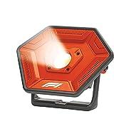 KEINEMARKE 10824 Foco COB LED portátil, 60 W, 3000 lúmenes, superbrillante, Recargable, 6700 mAh, para Taller, Rojo y Negro