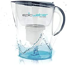 Epic Pure Water Filter Pitcher   Navy Blue   3.5L   100% BPA-Free   Removes Fluoride, Lead, Chromium 6, PFOS PFOA, Heavy Metals, Microorganisms, Pesticides, Chemicals, Industrial Pollutants & More