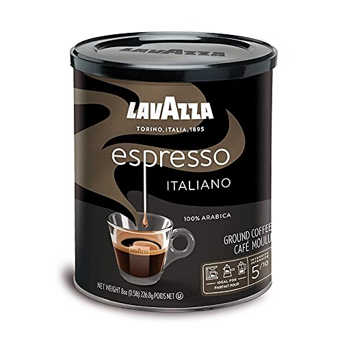 Lavazza Caffe Espresso Ground Coffee Blend, Medium Roast, 8 oz