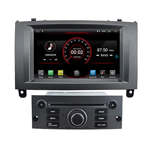Autosion Android 10 Lettore DVD GPS Stereo HeadUnit Navi Radio Multimedia Wifi per Ford Peugeot 407 2004 2005 2006 2007 2008 2009 2010 Argento Controllo del volante