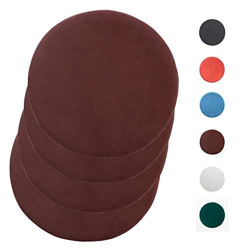 ZHXQ 4 Pieces Of Round Memory Foam Cushion Breathable Office Chair Cushion Beautiful Buttocks Cushion Round Memory Foam Thickened Student Cushion 40×40cm Green