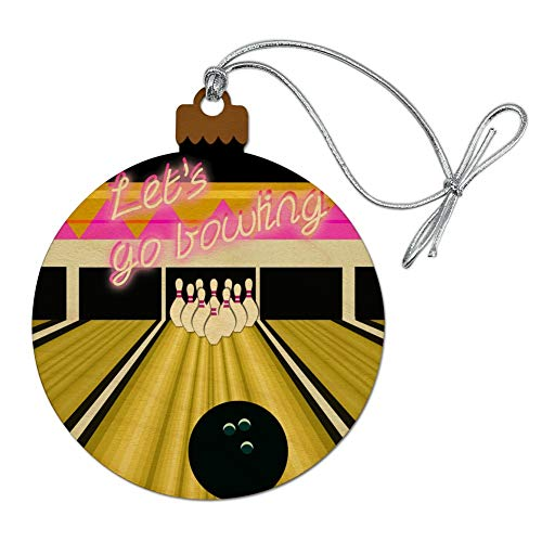 GRAPHICS & MORE Bowling Alley Ball Pins Wood Christmas Tree Holiday Ornament