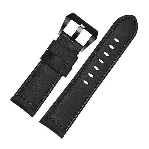 CHIMAEA Cinturino Orologio 22mm 24mm Uomo Militare Vintage Pelle cinturino...