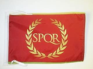 AZ FLAG Roman Empire Flag 18'' x 12'' Cords - Roman Empire Small Flags 30 x 45cm - Banner 18x12 in