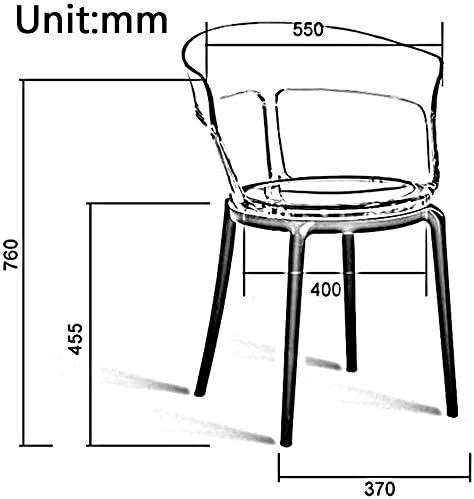 chaise FHW Transparent Comfort Lourdeur Décoration Application Simple Belle Vie Confortable Gratuite Plastique de Remplacement (Color : T3) T1