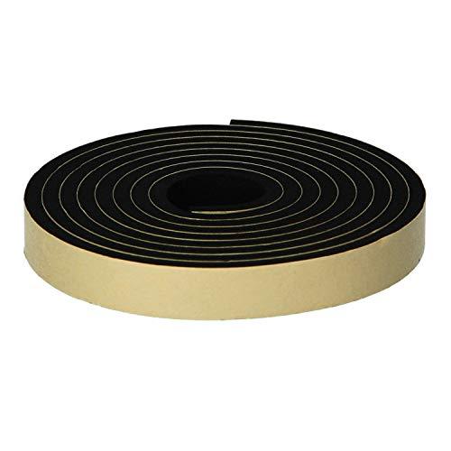 ニトムズ 屋外用防水すきまテープ ハードタイプ 簡単補修 耐久 消音 台風対策 玄関 物置 幅15mm×長さ2m×厚さ9mm 1巻入 黒 E0090