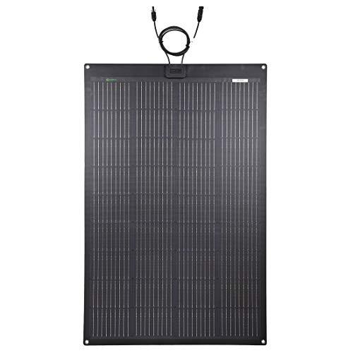 Lensun 150W 12V ETFE Black Flexible Solar Panel, PERC 9BB 23.5% Efficiency Mono Solar Cells, for Campers, RVs, Boats,Camping, Tent