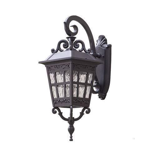 HYYK Lámpara de Pared de Villa al Aire Libre de Lujo a Cuadros de Bronce Casa Retro Jardín Europeo Exterior Puerta Impermeable Vintage País Balcón Linterna de Pared Luz de Pared Luz Colgante