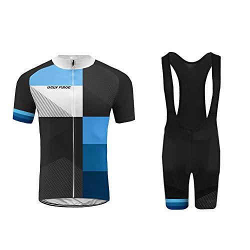 Uglyfrog Abbigliamento Ciclismo Set Estivo Maglie Ciclismo Maniche Corte+Salopette Ciclismo Squadra Professionale DXMX06